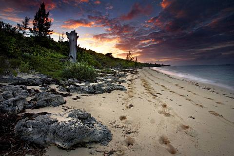 San Salvador Beach Sunset, Bahamas