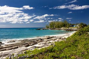 View from Cockburn Town, San Salvador, Bahamas