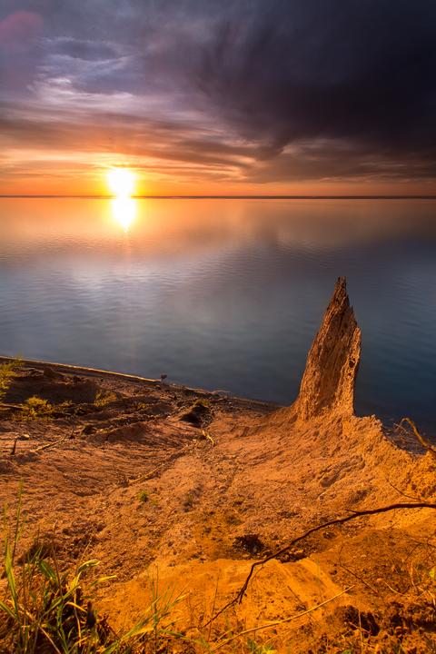 """Chimney Bluffs Lone Pinnacle"""