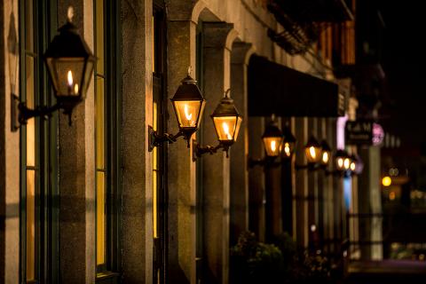 Savannah Georgia historic street lights