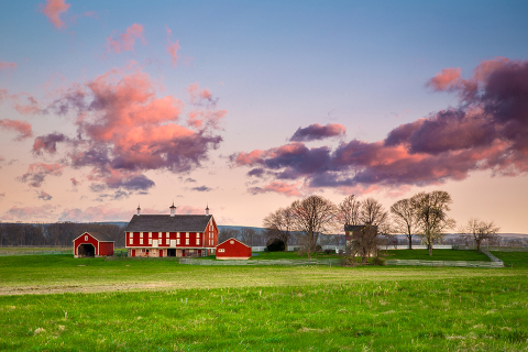 A farm on the outskirts of the Gettysburg battlefield in Pennsylvania.