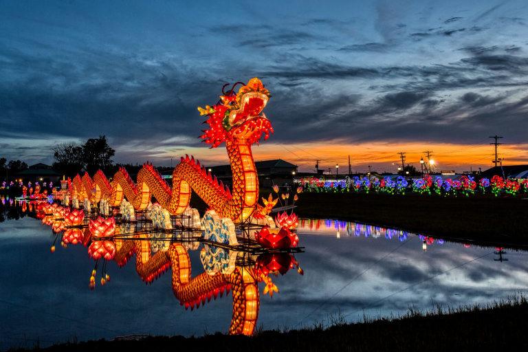 dragon chinese lantern at syracuse chinese lantern festival, may 2017